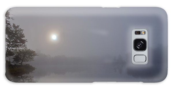 Galaxy Case featuring the photograph Foggy Sunrise On West Lake by David Patterson