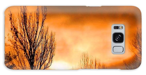 Foggy Sunrise Galaxy Case
