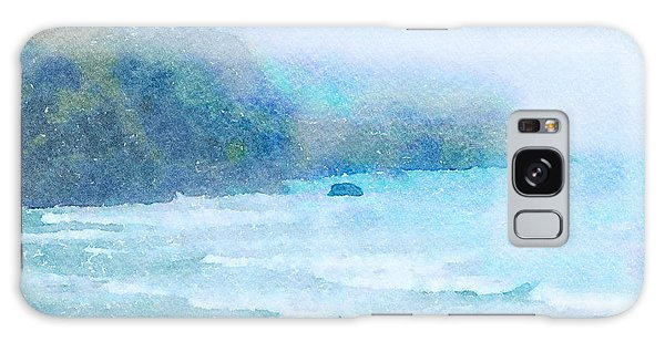 Galaxy Case featuring the painting Foggy Surf by Angela Treat Lyon