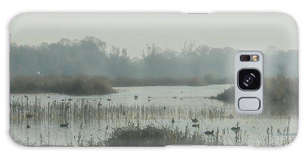 Foggy Wetlands Galaxy Case