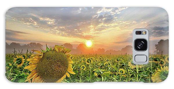 Foggy Yellow Fields Galaxy Case