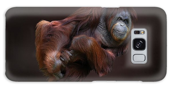 Folded Orangutan Galaxy Case