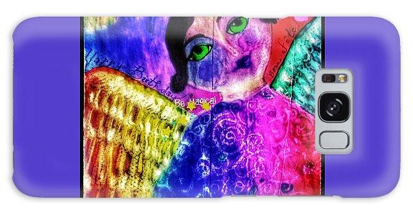 Folk Art Happy Birthday Angel Galaxy Case