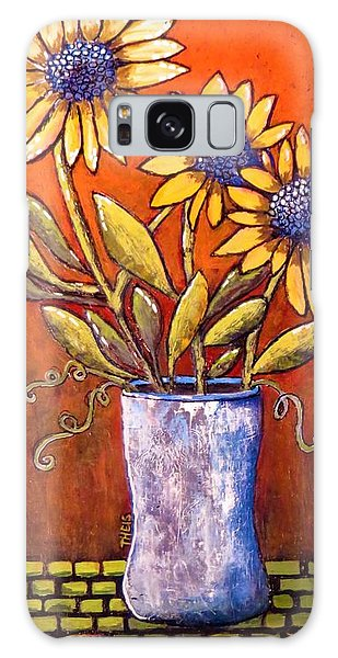 Folk Art Sunflowers Galaxy Case
