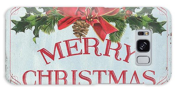 Galaxy Case - Folk Merry Christmas by Debbie DeWitt