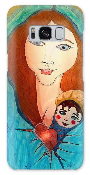 Folk Mother And Child Galaxy Case
