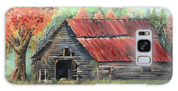 Galaxy Case featuring the painting Follow The Lantern - Early Morning Barn- Anne's Barn by Jan Dappen