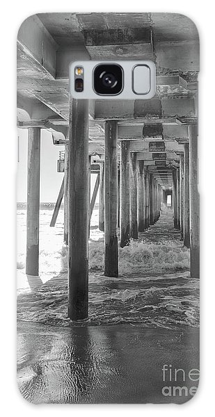 Galaxy Case featuring the photograph Follow The Lines Under Huntington Beach Pier by Ana V Ramirez