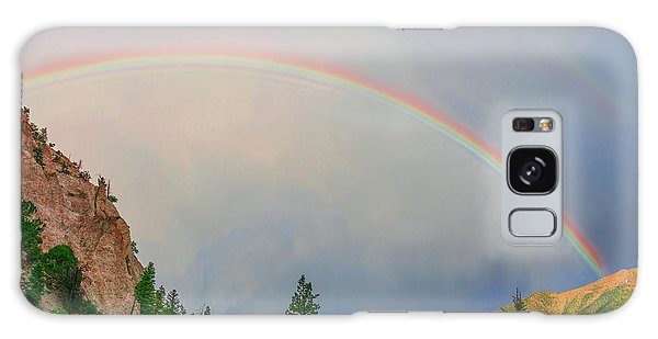 Follow The Rainbow To The Majestic Rockies Of Colorado.  Galaxy Case by Bijan Pirnia