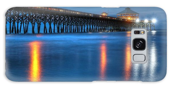 Folly Beach Pier At Blue Hour Charleston South Carolina Galaxy Case