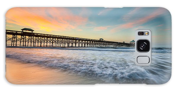 Folly Beach Pier At Dawn - Charleston Sc Galaxy Case
