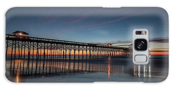 Folly Beach Pier Before Sunrise Galaxy Case
