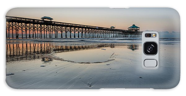 Folly Beach South Carolina Pier Galaxy Case