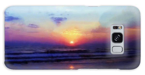 Folly Beach South Carolina Sunrise Galaxy Case