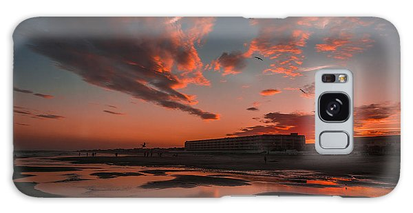 Folly Beach Sunset Galaxy Case