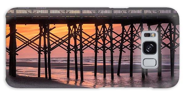 Folly Pier At Sunrise Galaxy Case
