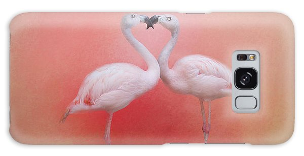 Fond Flamingos Galaxy Case