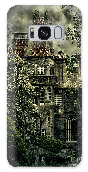 Fonthill With Storm Clouds Galaxy Case