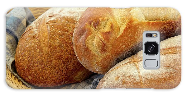 Food - Bread - Just Loafing Around Galaxy Case by Mike Savad
