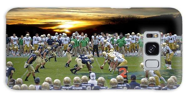 Football Field-notre Dame-navy Galaxy Case