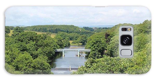 Footbridge Over The River Tees Galaxy Case
