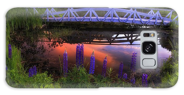 Footbridge Sunset Galaxy Case