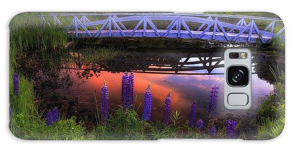 Footbridge Sunset Galaxy Case