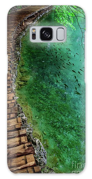 Footpaths And Fish - Plitvice Lakes National Park, Croatia Galaxy Case