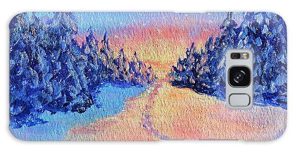 Footprints In The Snow Galaxy Case by Li Newton