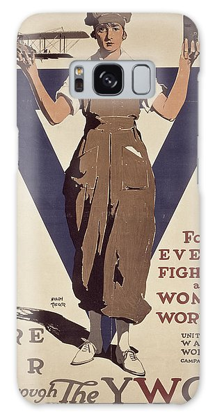Crt Galaxy Case - For Every Fighter A Woman Worker by Adolph Treidler