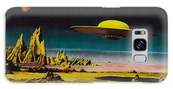 Forbidden Planet In Cinemascope Retro Classic Movie Poster Detailing Flying Saucer Galaxy Case