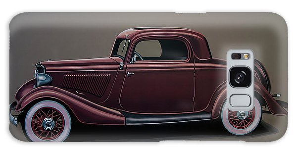 Motor Galaxy Case - Ford 3 Window Coupe 1933 Painting by Paul Meijering