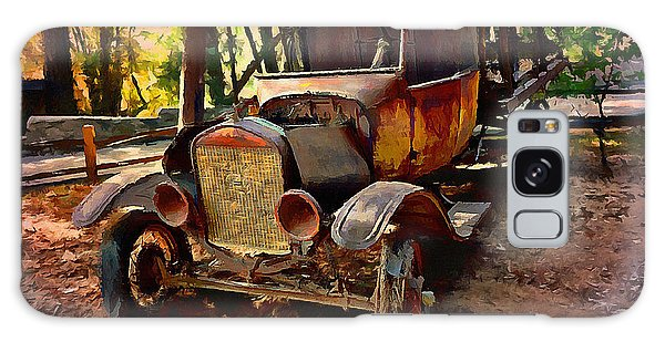 Ford Flatbed Truck Galaxy Case by Glenn McCarthy Art and Photography