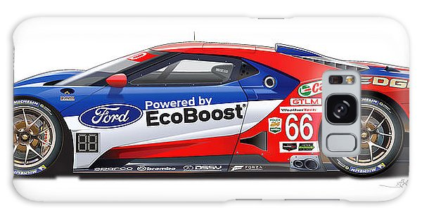 Ford Gt Le Mans Illustration Galaxy Case