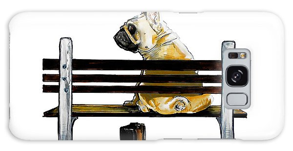 Forest Gump French Bulldog Caricature Art Print Galaxy Case