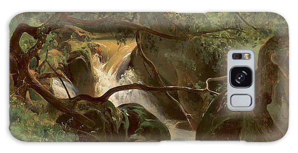 Forest Interior With A Waterfall Papigno Galaxy Case
