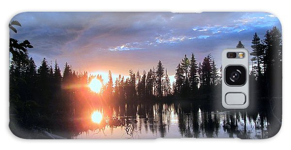 Forest Lake Sunset  Galaxy Case by Irina Hays
