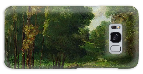 Outdoors Galaxy Case - Forest Landscape by Gustave Courbet