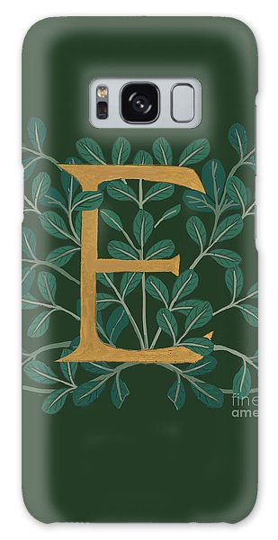 Forest Leaves Letter E Galaxy Case