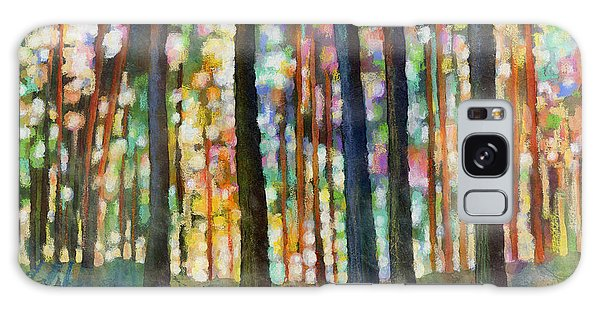 Forest Light Galaxy Case by Hailey E Herrera