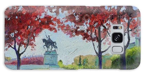 Forest Park Autumn Colors Galaxy Case