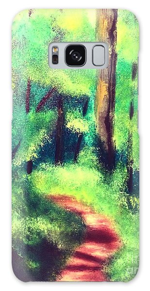 Forest Path Galaxy Case by Denise Tomasura