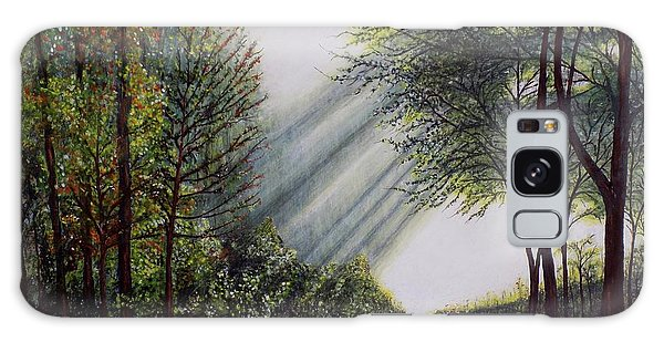 Forest Pathway Galaxy Case by Judy Kirouac