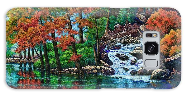 Forest Stream II Galaxy Case by Michael Frank