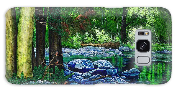 Forest Stream Galaxy Case by Michael Frank