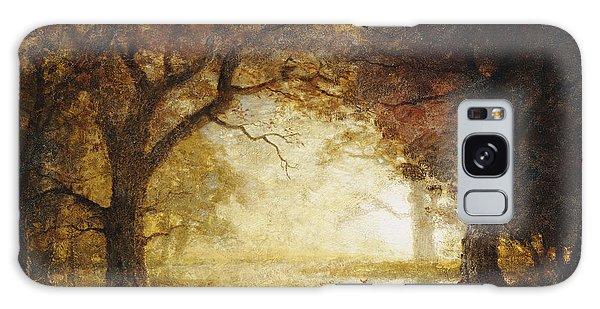 Wilderness Galaxy Case - Forest Sunrise by Albert Bierstadt