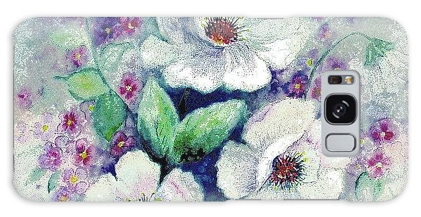 Forget-me-knots And Roses Galaxy Case by Hazel Holland