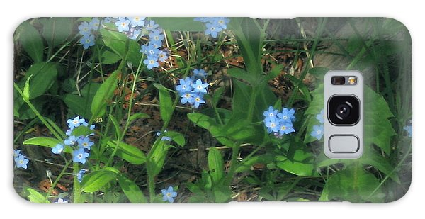 Forget-me-nots Galaxy Case by Deborah Dendler