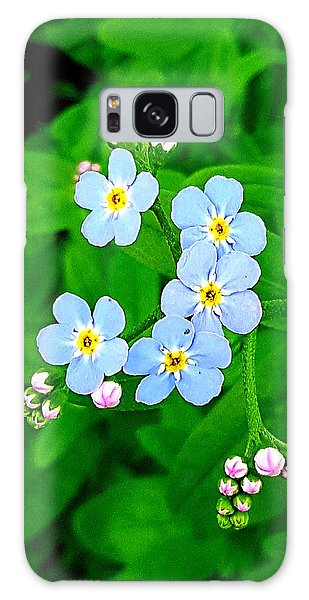Forget Me Nots Galaxy Case