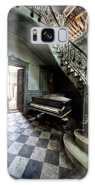 Forgotten Ancient Piano - Urban Exploration Galaxy Case by Dirk Ercken